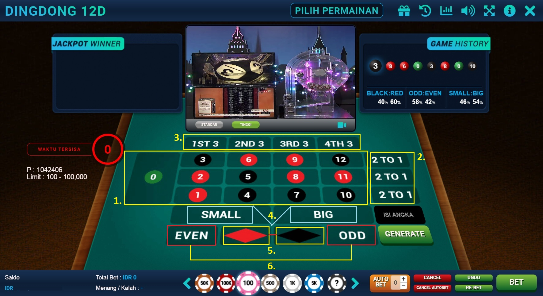 Panel Bettingan Dingdong 12D