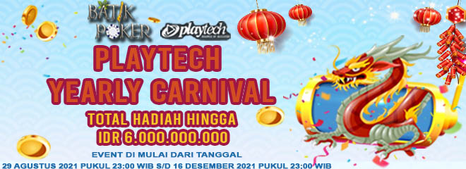 Promo Event Playtech Yearly Carnival